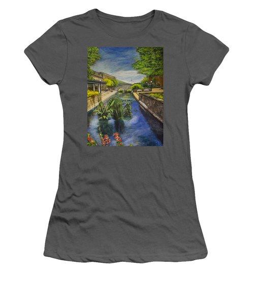 Carroll Creek Women's T-Shirt (Junior Cut) by Ron Richard Baviello