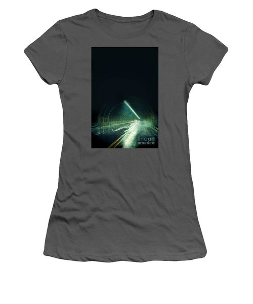 Cars In A Dark Tunnel Women's T-Shirt (Junior Cut) by Jill Battaglia