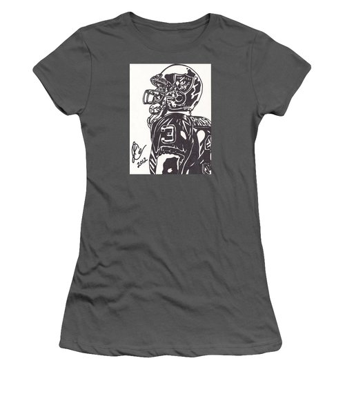 Women's T-Shirt (Junior Cut) featuring the drawing Carson Palmer 1 by Jeremiah Colley