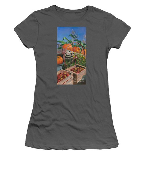 Cartloads Of Pumpkins Women's T-Shirt (Junior Cut) by Jeanette French