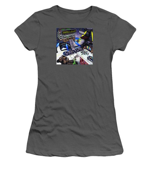Women's T-Shirt (Junior Cut) featuring the drawing Carton Album Cover Artwork Front by Richie Montgomery