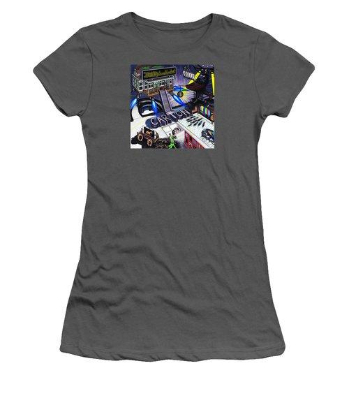 Carton Album Cover Artwork Front Women's T-Shirt (Junior Cut) by Richie Montgomery