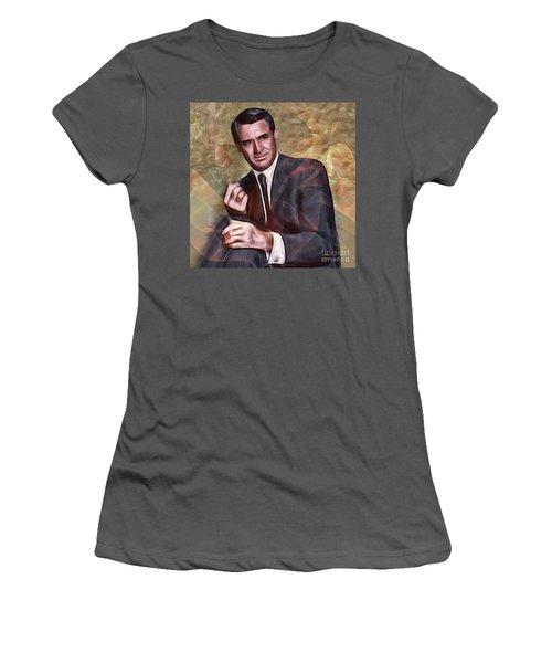 Cary Grant - Square Version Women's T-Shirt (Junior Cut) by John Robert Beck