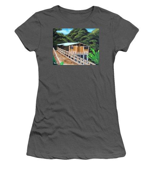Casa Grande Women's T-Shirt (Junior Cut) by Luis F Rodriguez