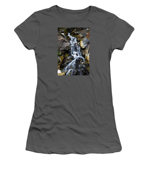 Women's T-Shirt (Junior Cut) featuring the photograph Cascade by Keith Hawley