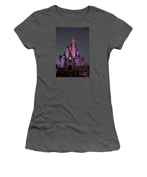 Castle At Twilight Women's T-Shirt (Junior Cut) by Carol  Bradley