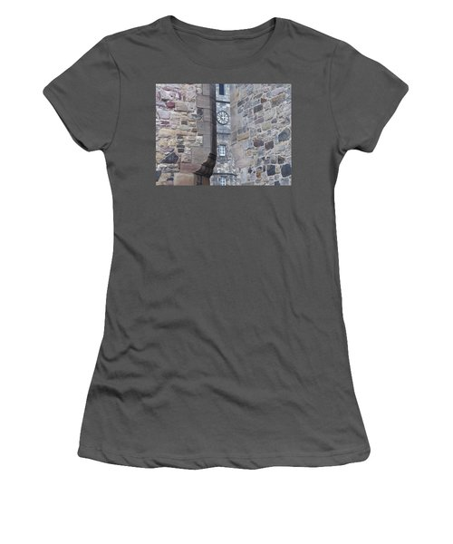 Castle Clock Through Walls Women's T-Shirt (Athletic Fit)