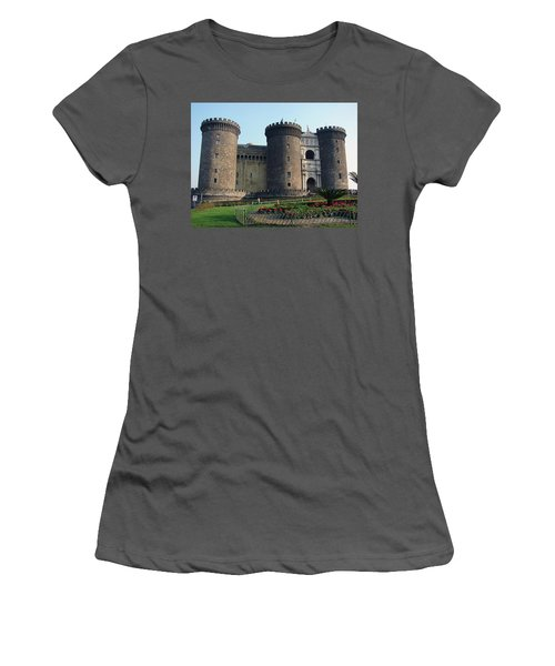 Castle Nuovo Naples Italy Women's T-Shirt (Athletic Fit)