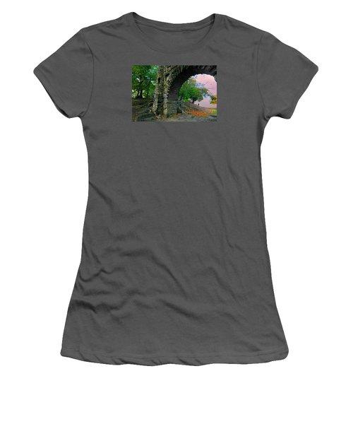 Castle Ramparts Women's T-Shirt (Athletic Fit)