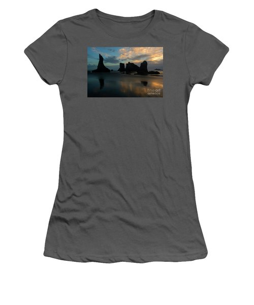 Women's T-Shirt (Junior Cut) featuring the photograph Castles In The Sand by Mike Dawson