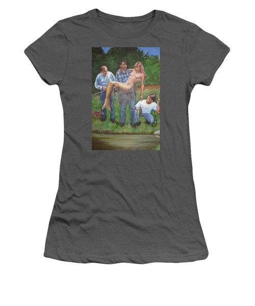 Catch Of The Day Women's T-Shirt (Junior Cut) by Bryan Bustard