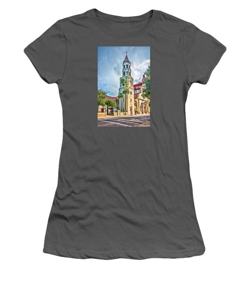 Women's T-Shirt (Athletic Fit) featuring the photograph Cathedral Basilica by Anthony Baatz
