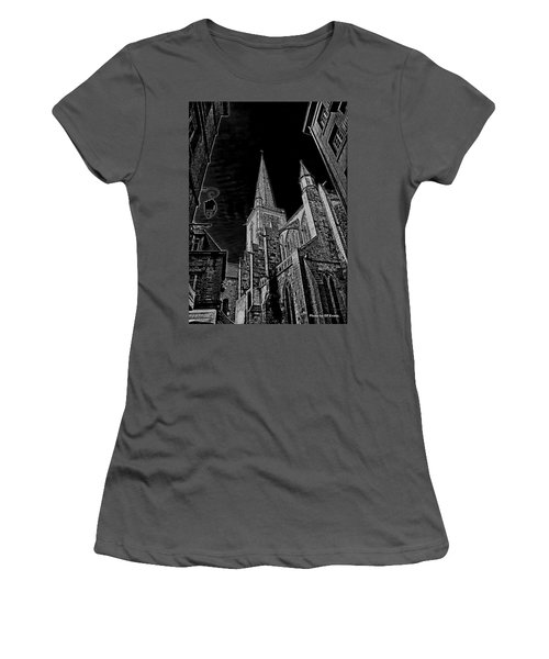 Women's T-Shirt (Athletic Fit) featuring the photograph Cathedrale St/. Vincent by Elf Evans
