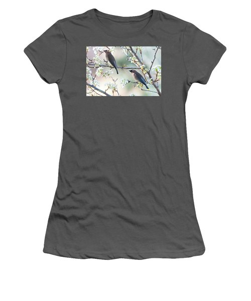 Cedar Wax Wing Pair Women's T-Shirt (Athletic Fit)