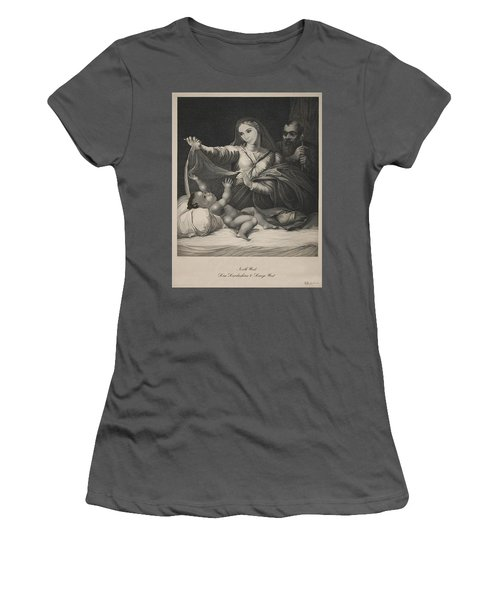 Celebrity Etchings - North Kim And Kanye Women's T-Shirt (Junior Cut) by Serge Averbukh