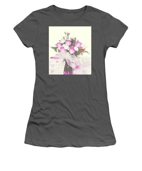 Centerpiece Women's T-Shirt (Junior Cut) by Inspirational Photo Creations Audrey Woods