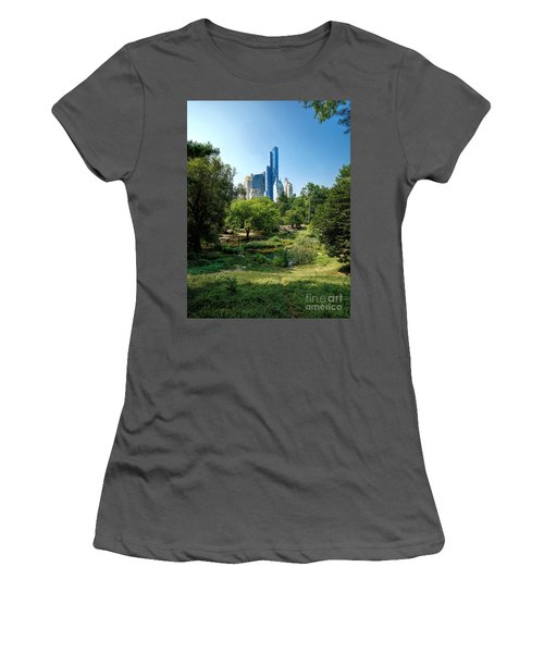Central Park Ny Women's T-Shirt (Athletic Fit)