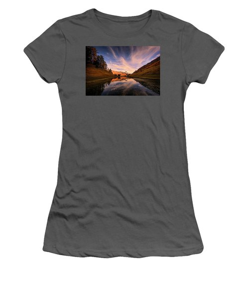 Chalet With An Autumn View Women's T-Shirt (Athletic Fit)