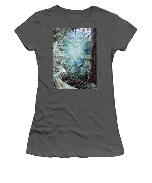 Chalice-tree Spirit In The Forest V3 Women's T-Shirt (Junior Cut) by Christopher Pringer