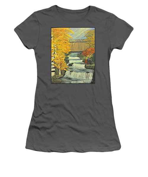 Chambers Covered Bridge  Women's T-Shirt (Athletic Fit)