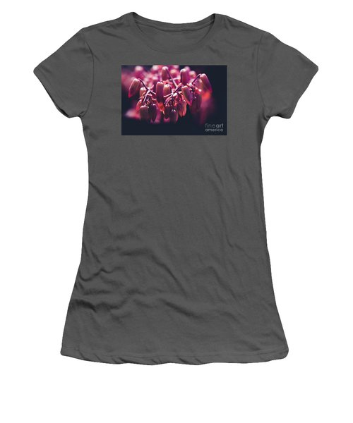 Women's T-Shirt (Junior Cut) featuring the photograph Chandelier Plant Kalanchoe - A Solitary Morning by Sharon Mau