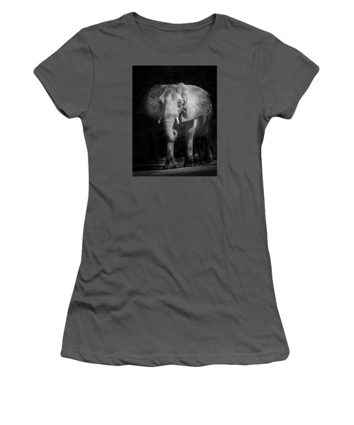 Charging Elephant Women's T-Shirt (Athletic Fit)