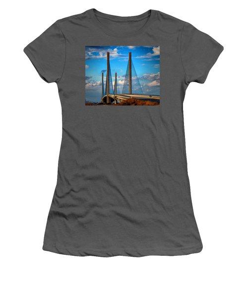 Charles W Cullen Bridge South Approach Women's T-Shirt (Athletic Fit)