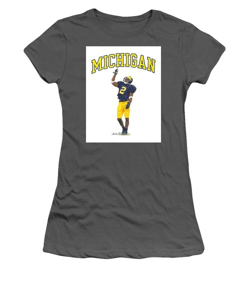 Charles Woodson Women's T-Shirt (Athletic Fit)