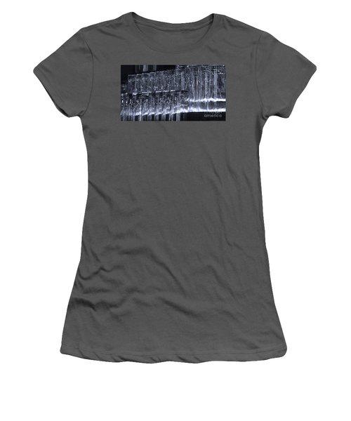 Chasing Waterfalls - Blue Women's T-Shirt (Junior Cut) by Linda Shafer