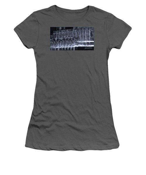 Chasing Waterfalls - Blue Women's T-Shirt (Athletic Fit)
