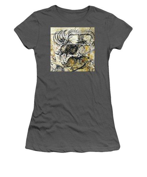 Chauvet Three Rhinoceros Women's T-Shirt (Athletic Fit)