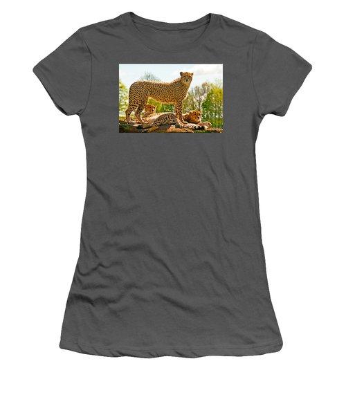 Cheetahs Three Women's T-Shirt (Athletic Fit)