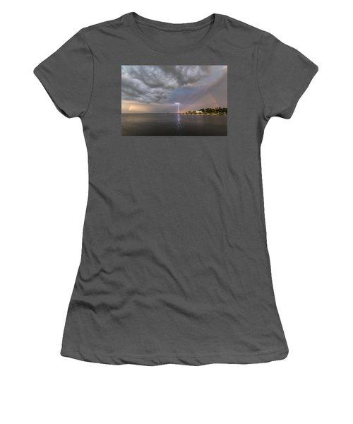 Chesapeake Bay Rainbow Lighting Women's T-Shirt (Junior Cut)