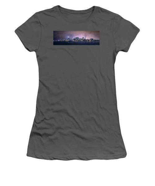 Chicago Skyline From Evanston Women's T-Shirt (Athletic Fit)