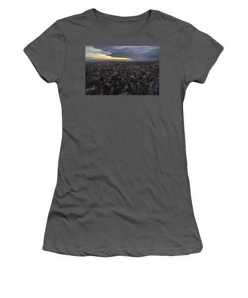 Women's T-Shirt (Athletic Fit) featuring the photograph Chicago Westward by Steven Sparks