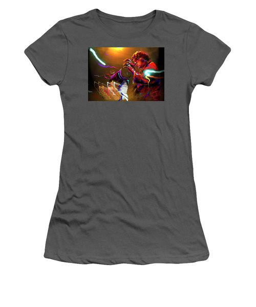 Women's T-Shirt (Junior Cut) featuring the painting Chick Corea by DC Langer