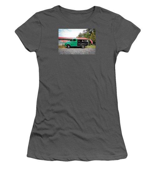 Chicken Road Market Women's T-Shirt (Junior Cut) by Marion Johnson