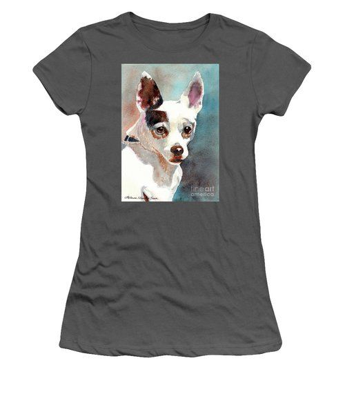 Chihuahua  Women's T-Shirt (Junior Cut) by LeAnne Sowa