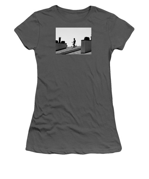 Women's T-Shirt (Junior Cut) featuring the photograph Chimney Sweep by Helen Haw