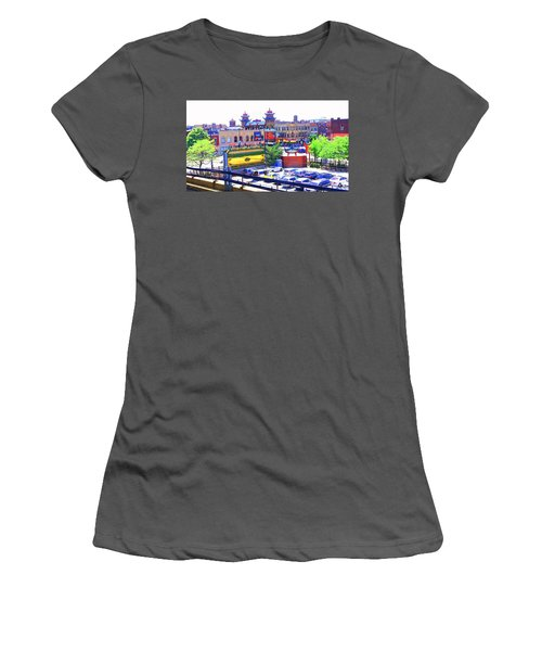 Chinatown Chicago 1 Women's T-Shirt (Junior Cut) by Marianne Dow