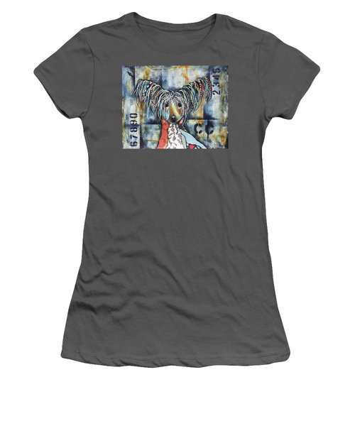 Chinese Crested Women's T-Shirt (Junior Cut) by Patricia Lintner