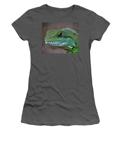 Chinese Water Dragon Women's T-Shirt (Junior Cut) by Savannah Gibbs