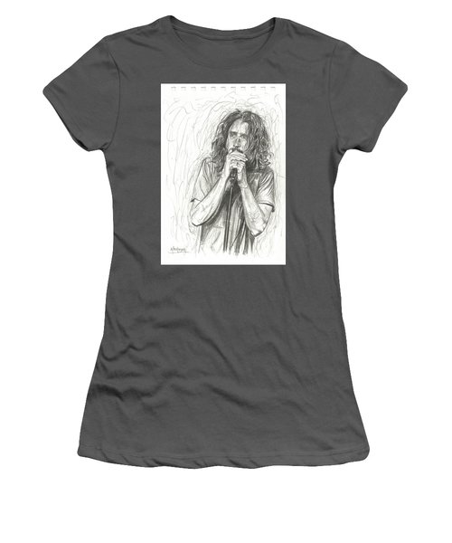 Chris Cornell Women's T-Shirt (Athletic Fit)