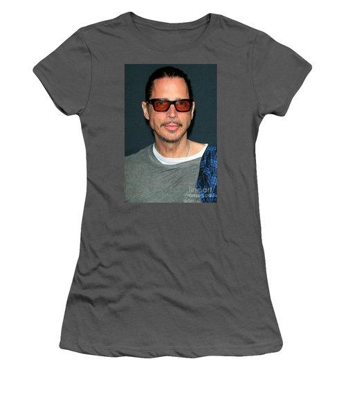 Chris Cornell Women's T-Shirt (Athletic Fit)