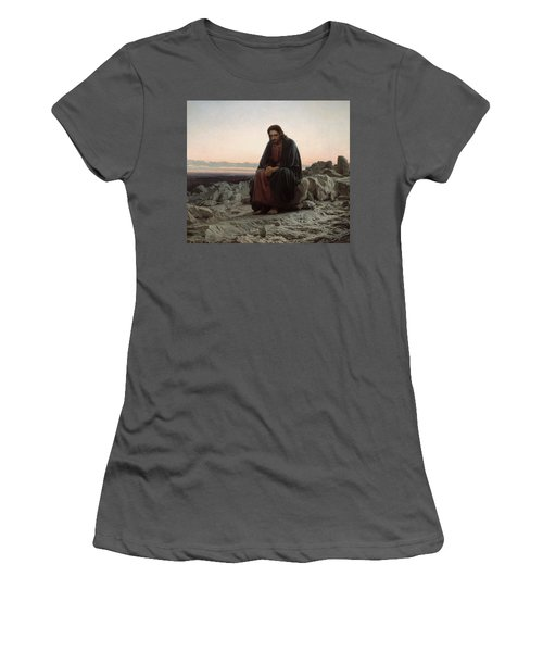 Christ In The Desert Women's T-Shirt (Athletic Fit)