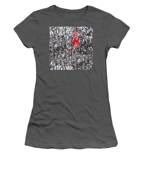 Women's T-Shirt (Junior Cut) featuring the photograph Christmas Candy  by Ulrich Schade
