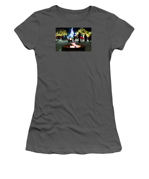 Christmas Fire Pit Women's T-Shirt (Athletic Fit)