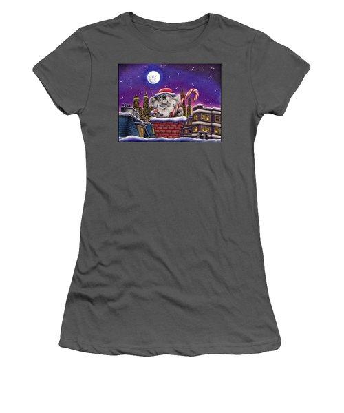 Christmas Koala In Chimney Women's T-Shirt (Athletic Fit)