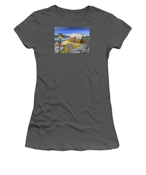 Christmas On The Bay Women's T-Shirt (Junior Cut) by Kevin F Heuman