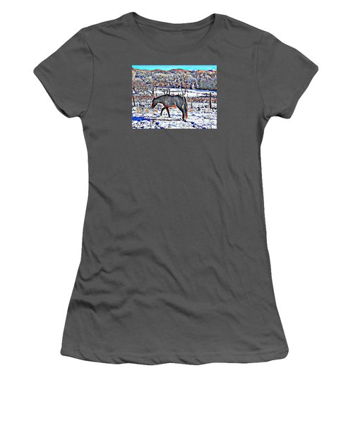 Women's T-Shirt (Junior Cut) featuring the photograph Christmas Roan El Valle II by Anastasia Savage Ealy